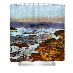 California Seascape Shower Curtain by Barbara Snyder