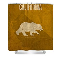 California State Facts Minimalist Movie Poster Art  Shower Curtain