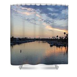 California Sunset Shower Curtain by Heidi Smith
