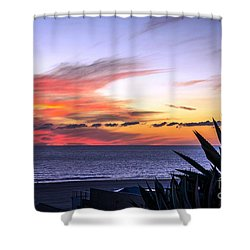 California Sunset Shower Curtain by Mike Ste Marie