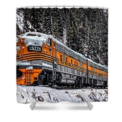 California Zephyr Shower Curtain
