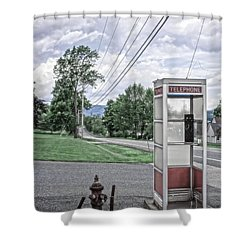 Call Me When You Get There Shower Curtain by Edward Fielding