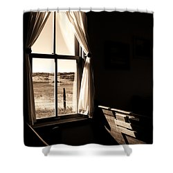 Call To Worship Shower Curtain by Jim Garrison