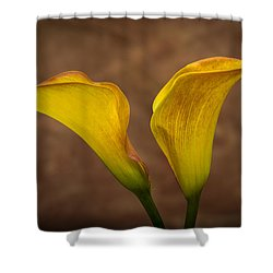 Shower Curtain featuring the photograph Calla Lilies by Sebastian Musial
