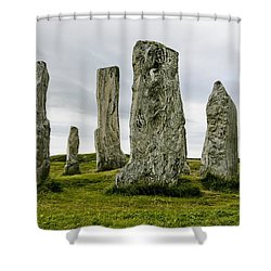 Callanish Standing Stones Shower Curtain by Toby Adamson
