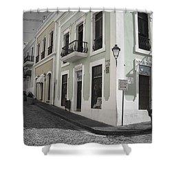 Calle De Luna Y Calle Del Cristo Shower Curtain