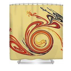 Calligraphy Shower Curtain by Anastasiya Malakhova