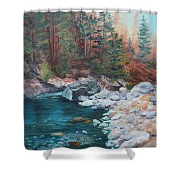 Calling Me Home Shower Curtain by Patricia Olson