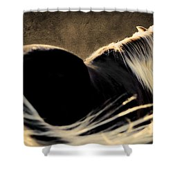 Calm Awareness 1 Vignette Shower Curtain by Michelle Twohig