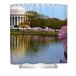Calm Shower Curtain by Mitch Cat