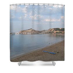 Shower Curtain featuring the photograph Calm Sea by George Katechis