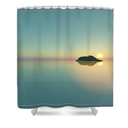 Calm Seas Sunset... Shower Curtain