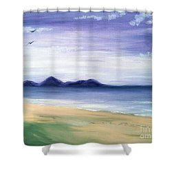 Calm Seashore Shower Curtain