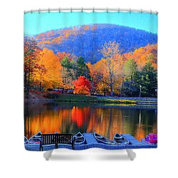 Calm Waters In The Mountains Shower Curtain