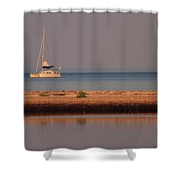 Calm Waters Shower Curtain by Karol Livote