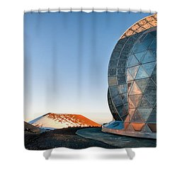 Shower Curtain featuring the photograph Caltech Submillimeter Observatory by Jim Thompson