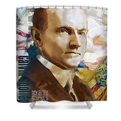 Calvin Coolidge Shower Curtain by Corporate Art Task Force