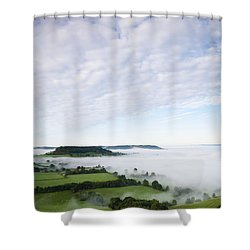 Cam Long Down Shower Curtain by Anne Gilbert