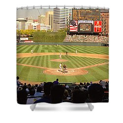 Camden Yards Baseball Game Baltimore Shower Curtain
