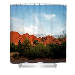 Camelback Mountain And Moon Shower Curtain