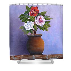 Camellia Bouquet Shower Curtain