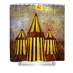 Camelot Restrained Shower Curtain by Bob Orsillo