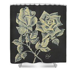 Shower Curtain featuring the painting Cameo Rose by Carol Wisniewski