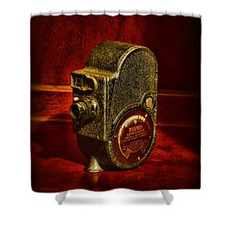 Camera - Bell And Howell Film Camera Shower Curtain by Paul Ward