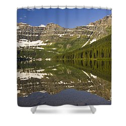 Cameron Lake Shower Curtain by Dee Cresswell