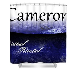 Cameron - Spiritual Potential Shower Curtain by Christopher Gaston