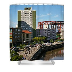 Shower Curtain featuring the photograph Caminito by Silvia Bruno