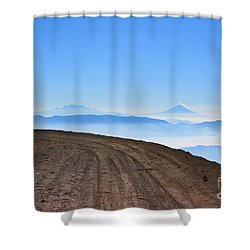 Camino En Volcan Nevado De Toluca Shower Curtain