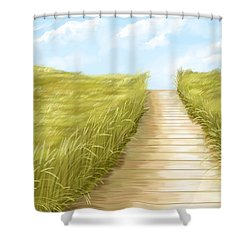 Cammino Shower Curtain by Veronica Minozzi