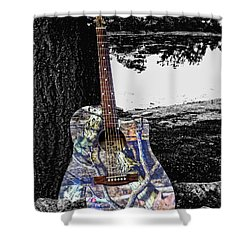 Camo Guitar Shower Curtain