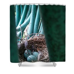 Camouflage Intent Shower Curtain by Renate Nadi Wesley