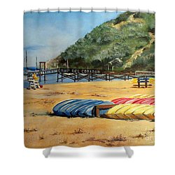 Camp Del Corazon  Shower Curtain