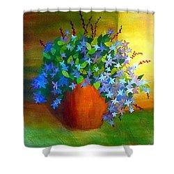 Campanula In Terra Cotta Shower Curtain