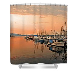 Campbell River Marina Shower Curtain by Nancy Harrison