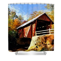 Campbell's Covered Bridge Shower Curtain