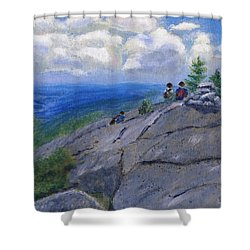 Campers On Mount Percival Shower Curtain