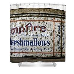 Campfire Marshmallows Tin Shower Curtain by Lynn Palmer
