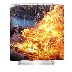 Shower Curtain featuring the photograph Campfire by James Peterson