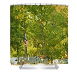 Campground Abstract Shower Curtain by Frozen in Time Fine Art Photography