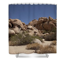 Camping Shower Curtain by Amanda Barcon