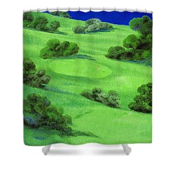 Campo Da Golf Di Notte Shower Curtain by Guido Borelli