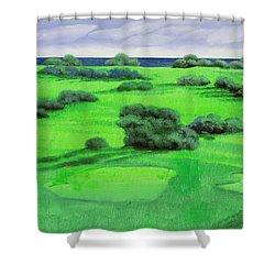 Campo Da Golf Shower Curtain by Guido Borelli