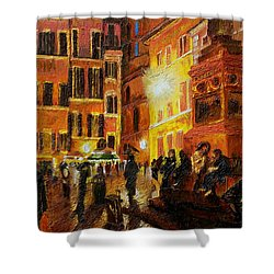 Campo Di Fiori- Italy Shower Curtain by Fanny Diaz