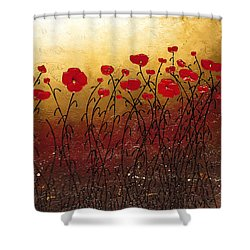 Campo Florido Shower Curtain by Carmen Guedez