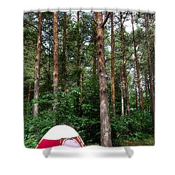 Campsite Near Holland State Park Shower Curtain