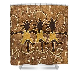 Can Can Dancers Shower Curtain